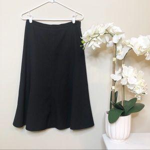 INC Black A-Line Skirt Size 6